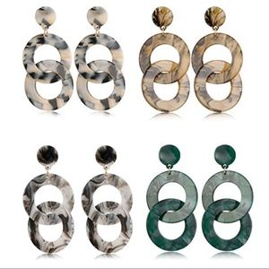 Jewelry - ‼️BOGO FREE BaubleBar Style Acrylic Dangle Earring